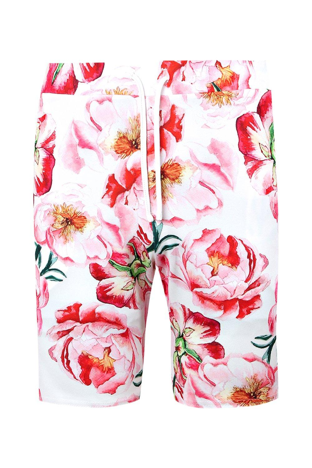 Shorts Mid pink Floral Co Length Printed ord 1t0wPqv