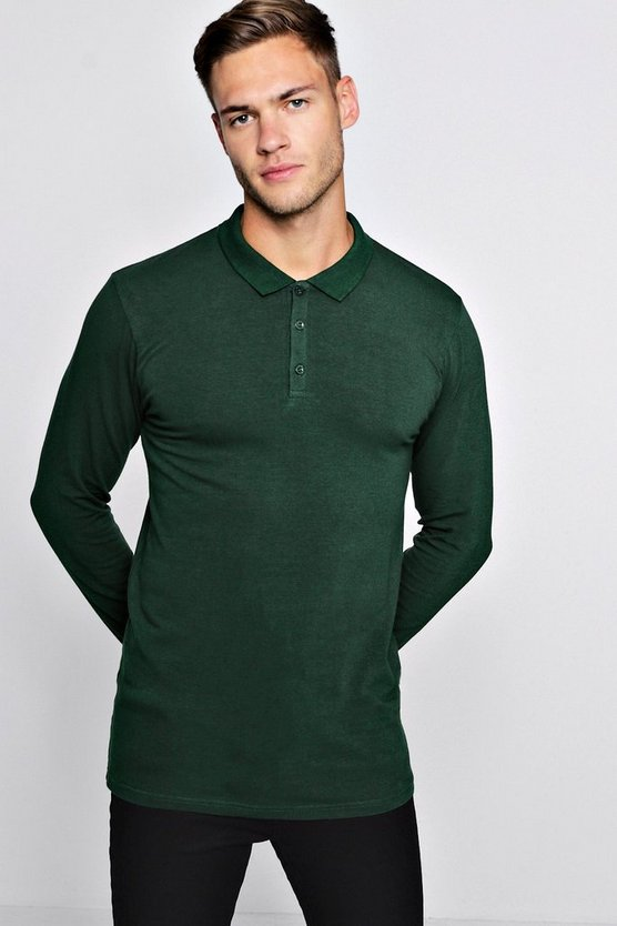 Long Sleeve Extreme Muscle Fit Polo