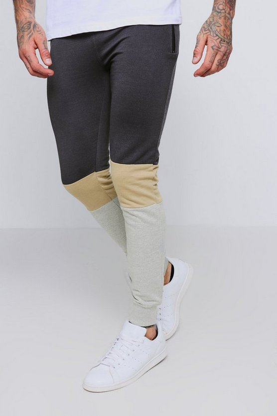 Colour Block Zip Detail Jogger