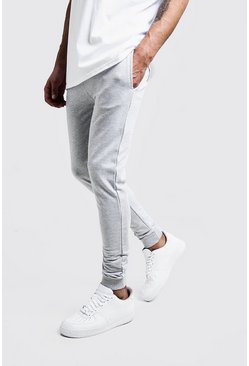 Mens Grey marl Super Skinny Joggers