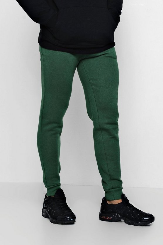 Green Slim Fit Fleece Joggers