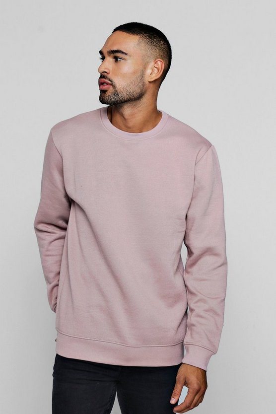 Mens Bark Fleece Crew Neck Sweatshirt