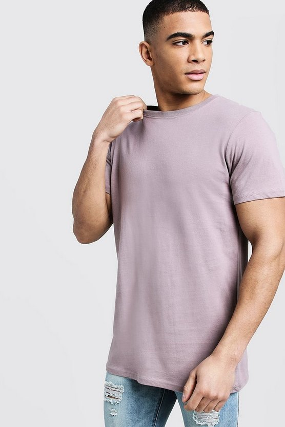 Mens Bark Longline Crew Neck T-Shirt