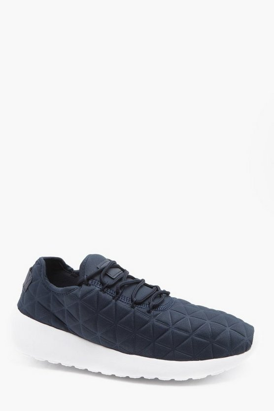 Diamond Embossed Neoprene Sneaker