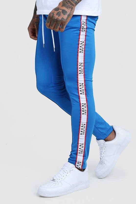 Skinny Fit Tricot Joggers With MAN Dash Tape