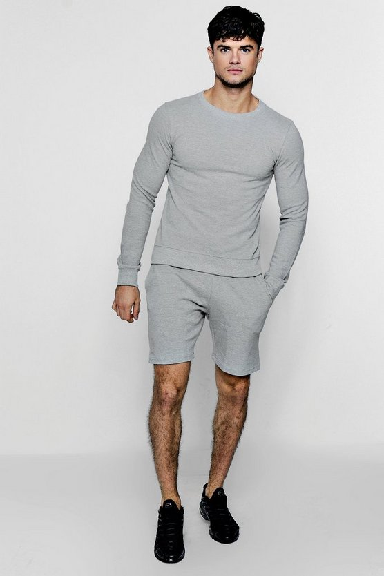 Pique Sweater Short Tracksuit