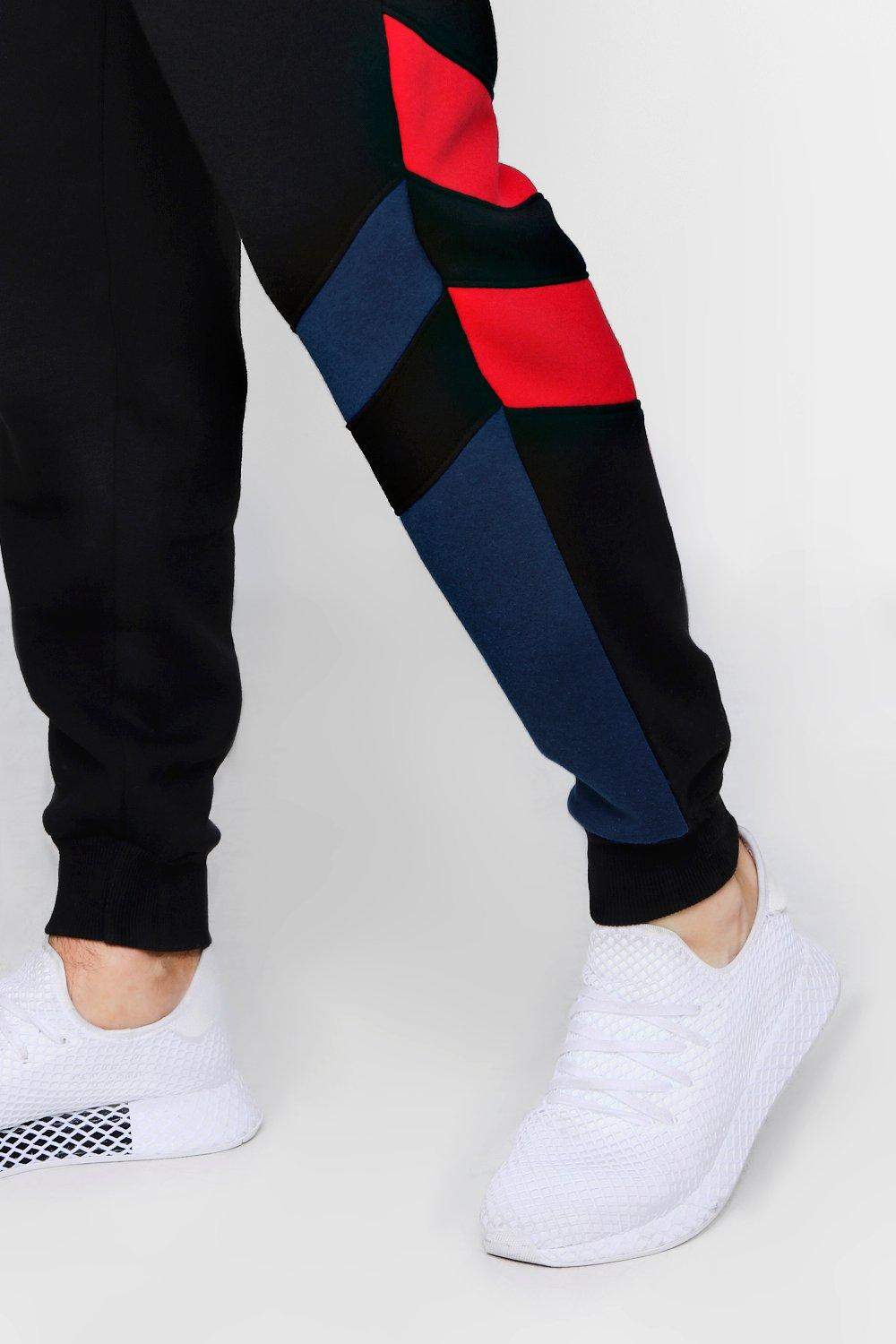 Fit black Joggers Double Loose Jersey Panel Z8qAdOdxw
