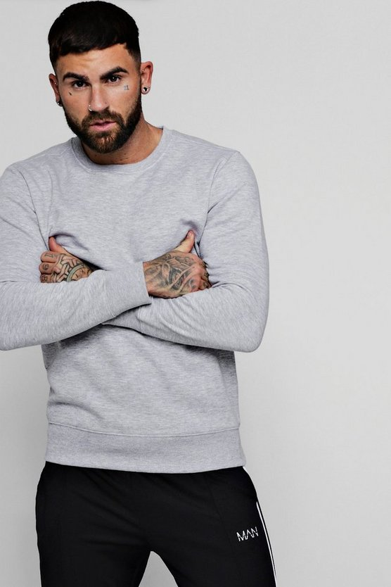 Mens Basic Crew Neck Sweater