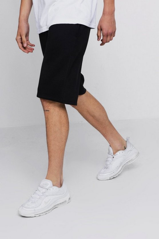 Mens Black Basic Jersey Basketball Shorts