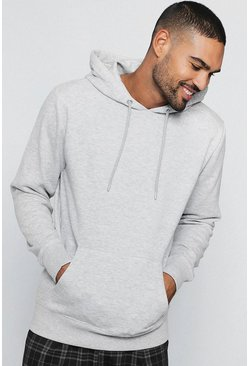 Mens Ash Basic Over The Head Hoodie