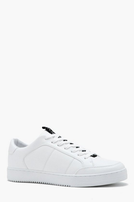 MAN Tape Faux Leather Trainer
