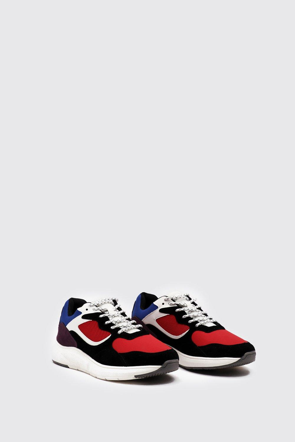 Chunky Sole Panelled Trainer