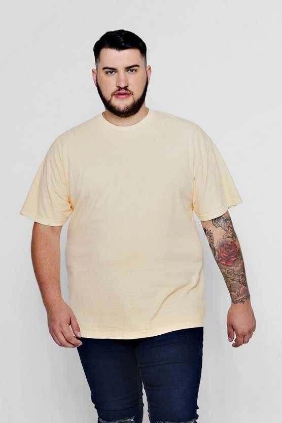 Mens Apricot Big & Tall Loose Fit Washed T-Shirt