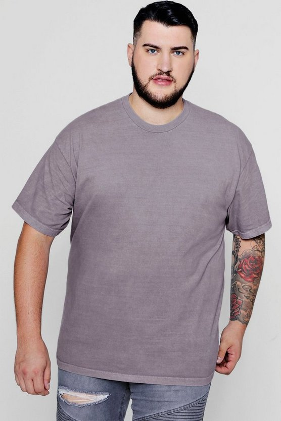 Big & Tall Loose Fit Washed T-Shirt