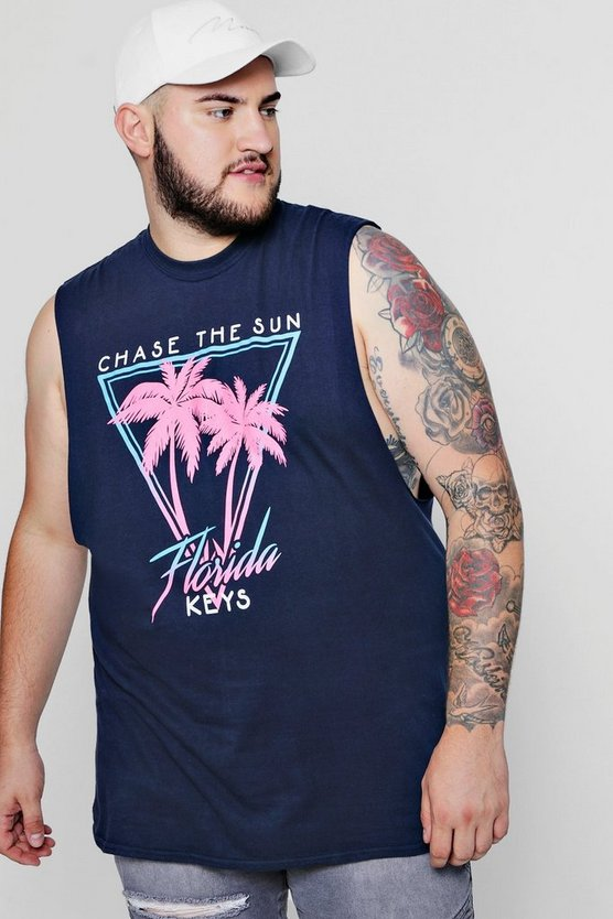 Big & Tall Chase The Sun Palm Print Tank