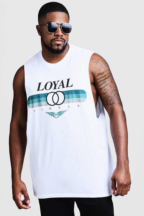 Big & Tall Loyal Print Tank