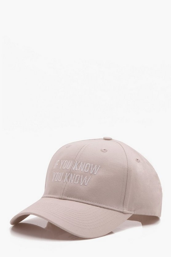'If You Know You Know' Basic Cap