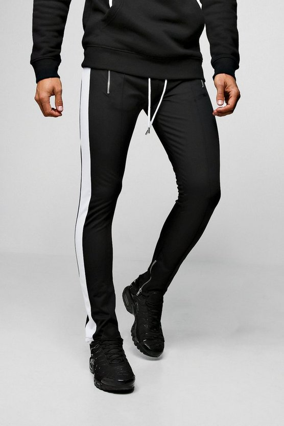 Mens Tricot Side Panel Joggers