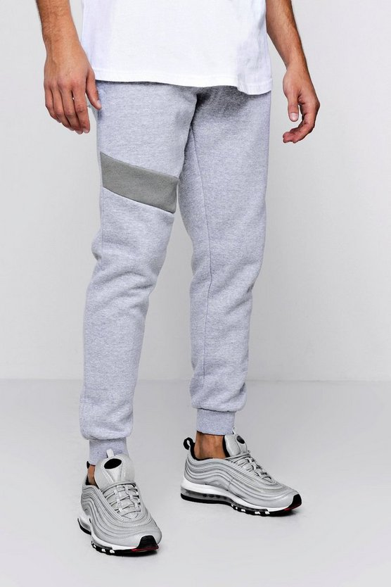 Colour Panel Jersey Fleece Jogger