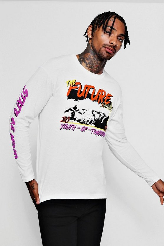 Youth Of Tomorrow Printed Long Sleeve Tee