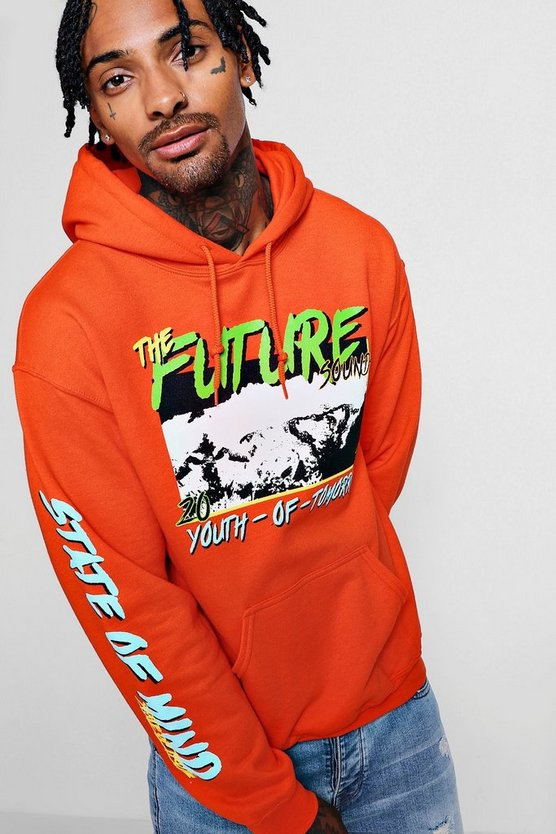 Youth Of Tomorrow Printed Over The Head Hoodie