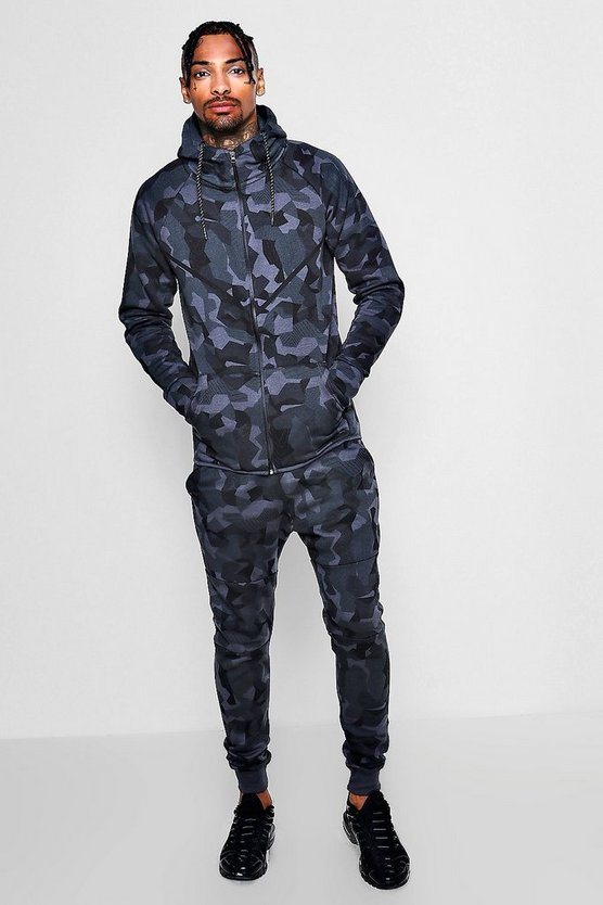 Camo Zip Through Tracksuit