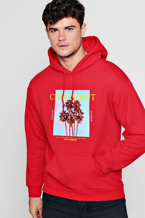 Checked Out Photo Print Hoodie