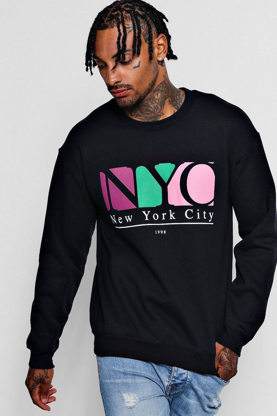 NYC Chest Print Sweatshirt