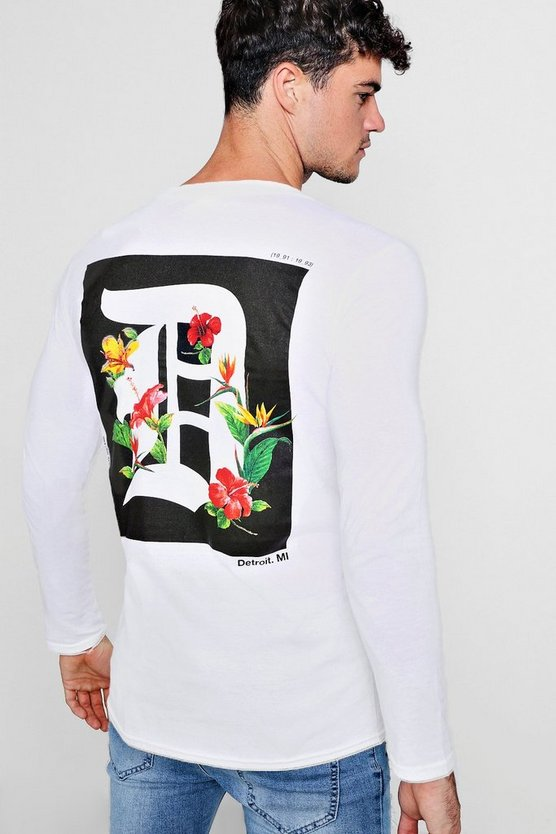 Front And Back Print Long Sleeve T-Shirt