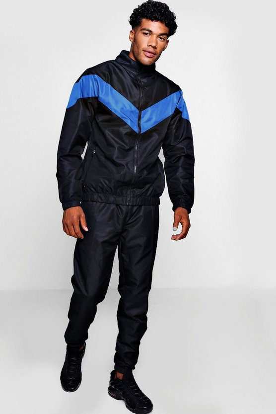 Shell Tracksuit With Contrast Panel