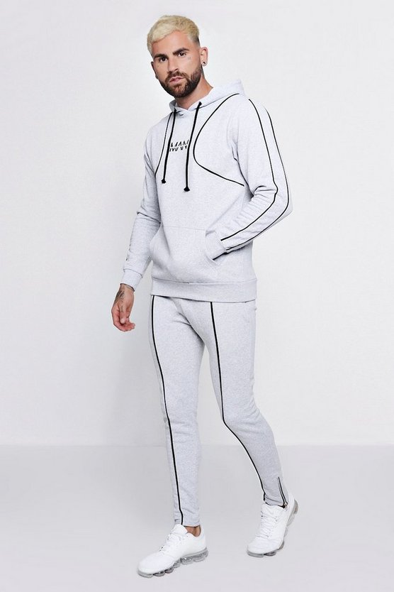 Original MAN Hooded Tracksuit With Piping