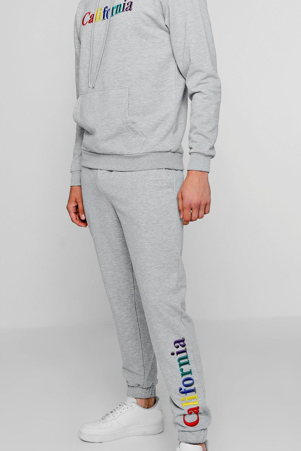 213b6b67f98e Mens Grey California Embroidered Over The Head Tracksuit. Hover to zoom.  Close video