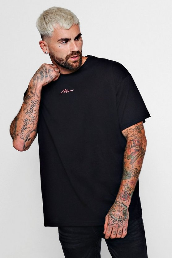 Neon MAN Signature Oversized T-Shirt With Back Tape