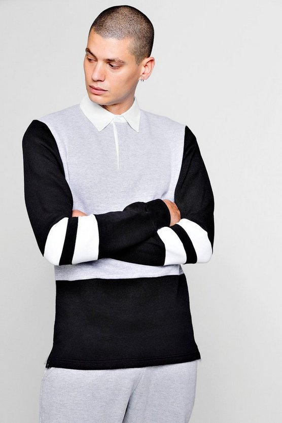 Colour Block Rugby Sweater