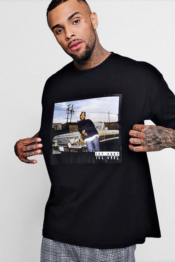 Oversized Ice Cube Cadillac Photo Print License T-Shirt