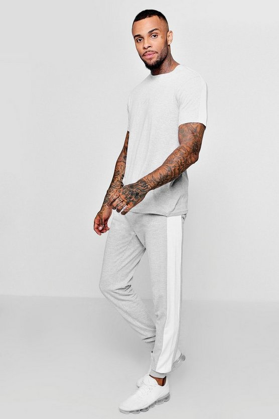 MAN Signature T-Shirt And Jogger Set