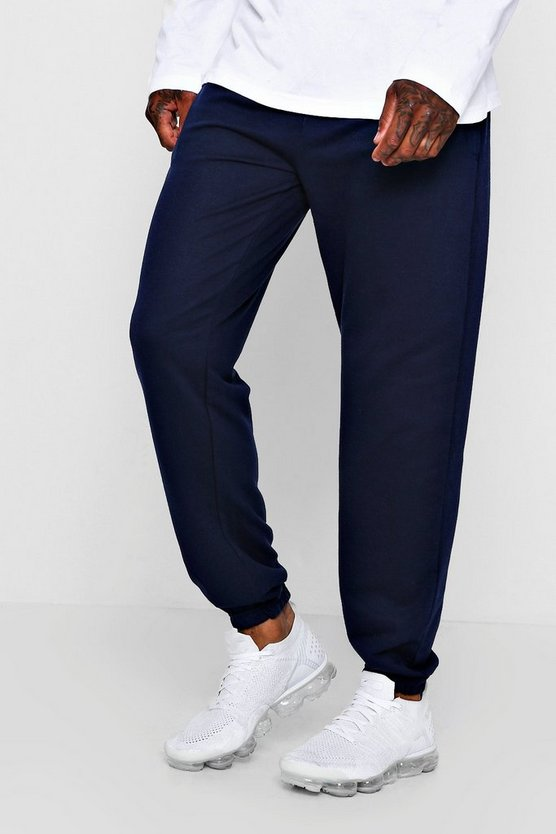 Mens Navy Jersey Loose Fit Jogger