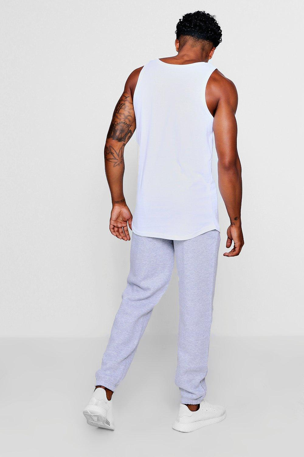 Jogger Fit MAN Sports Loose Stripe grey Print wUv7xq0z