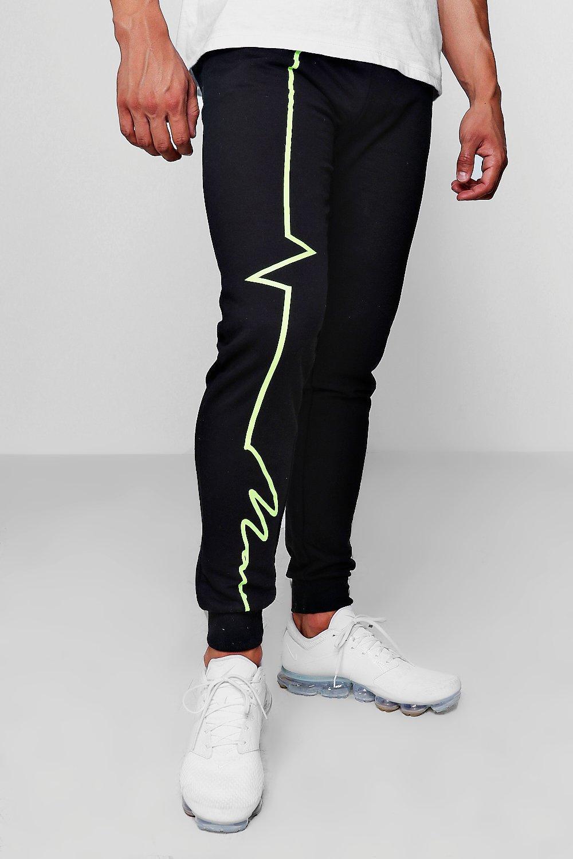 Neon Joggers Skinny Fit black Signature MAN aYn77B5qw