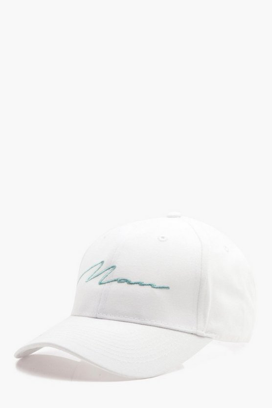 Pastel Blue MAN Embroidered Cap