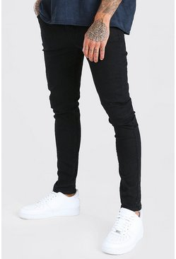 Herr Super Skinny Black Denim Jeans