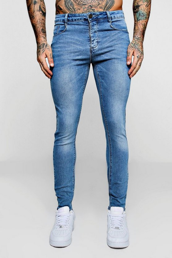 Super Skinny Pale Blue Denim Jeans