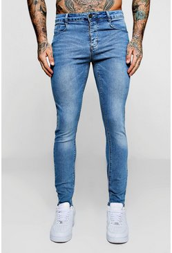 Mens Super Skinny Pale Blue Denim Jeans