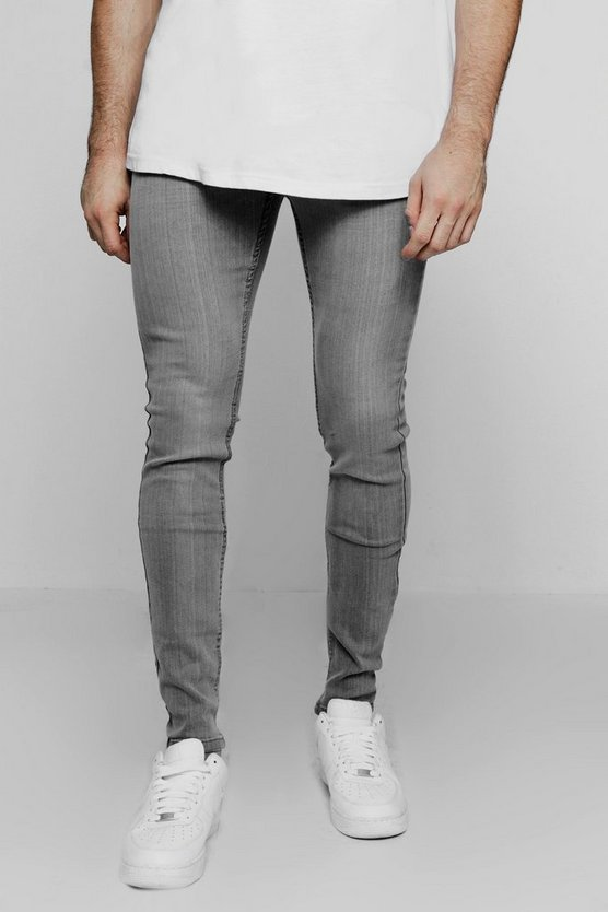 Pale Grey Wash Skinny Fit Jeans