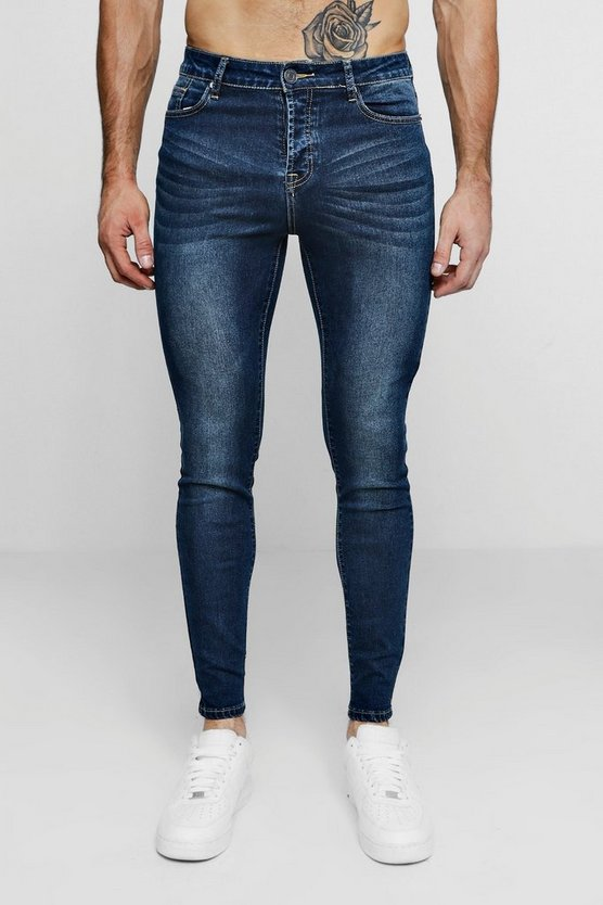 Super Skinny Antique Wash Denim Jean