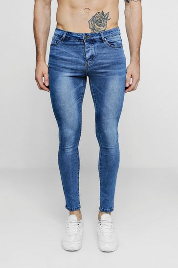 Super Skinny Mid Blue Denim Jeans