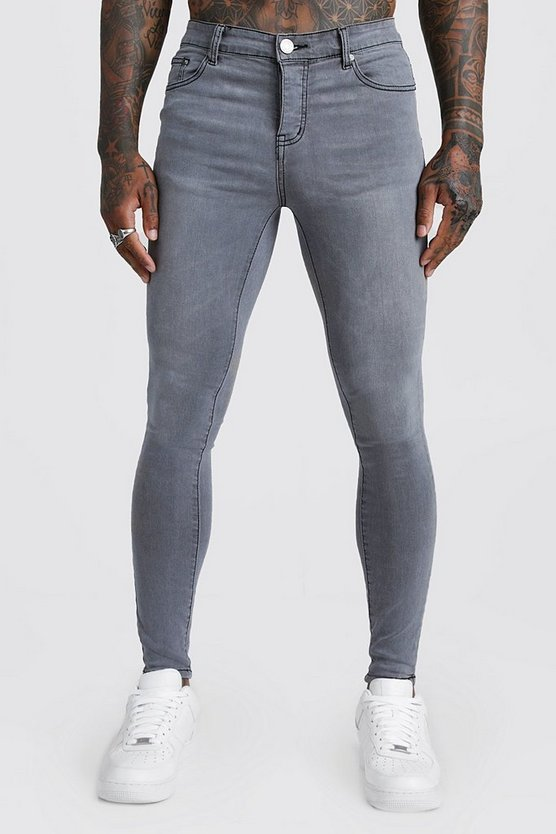 Spray On Skinny Jeans In Grey