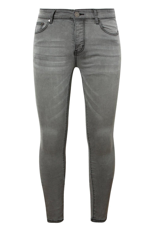 skinny claro gris en rociados gris Jeans aqBwn
