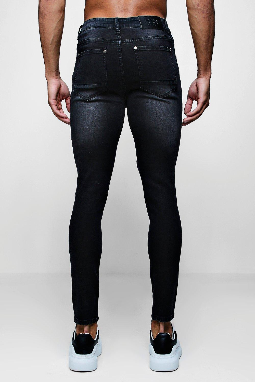 marengo Jeans skinny gris cordones con super de detalle xBzqZF