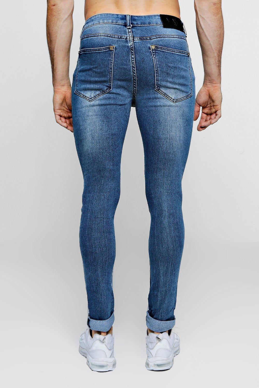 desgastados antiguo biker lavado skinny Jeans super wt8n7